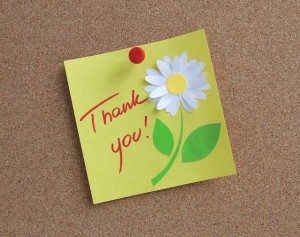 thank-you flower card