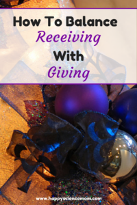 How to Balance Receiving with Giving