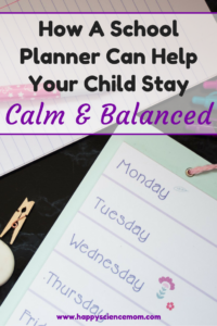 How A School Planner Can Help Your Child Stay Calm And Balanced